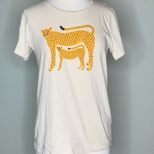 New without Tags J. Crew Leopard tee Size M